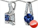 Original Star K™ Round Created Sapphire Pendant style: 305820