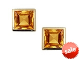 Tommaso Design™ Square Small Genuine Citrine Earrings style: 305839