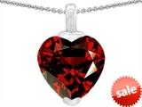 Original Star K™ 10mm Heart Shaped Simulated Garnet Pendant style: 305841