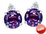 Original Star K™ Round 7mm Simulated Alexandrite Earrings Studs style: 305849