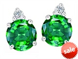 Original Star K™ Round 7mm Simulated Emerald Earring Studs