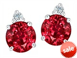 Original Star K™ Round 7mm Created Ruby Earrings Studs style: 305860