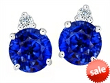 Original Star K™ Round 7mm Created Sapphire Earrings Studs style: 305861