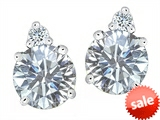 Original Star K™ Round 7mm Genuine White Topaz Earrings Studs style: 305865