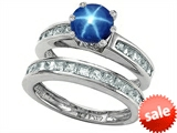 Original Star K™ Round Created Star Sapphire Wedding Set style: 305953