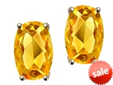 Tommaso Design™ Checkerboard Cushion Cut Genuine Citrine Earrings