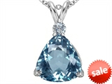 Original Star K™ Large 12mm Trillion Cut Simulated Aquamarine Pendant style: 305997