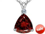 Original Star K™ Large 12mm Trillion Cut Simulated Garnet Pendant style: 306000