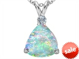 Original Star K™ Large 12mm Trillion Cut Created Opal Pendant style: 306001