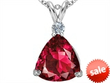 Original Star K™ Large 12mm Trillion Cut Created Ruby Pendant style: 306003