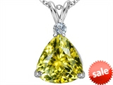 Original Star K™ Large 12mm Trillion Cut Simulated Yellow Sapphire Pendant style: 306009