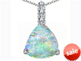 Original Star K™ Large 12mm Trillion Cut Created Opal Pendant