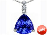 Original Star K™ Large 12mm Trillion Cut Simulated Tanzanite Pendant style: 306027