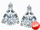 Original Star K™ 7mm Trillion Cut Genuine White Topaz Earrings Studs style: 306043