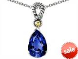 Original Star K™ Pear Shape 11x8mm Created Sapphire Pendant