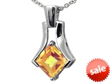 Tommaso Design™ Quality Square Cut Genuine Citrine Pendant style: 306050