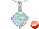 Original Star K™ Large 12mm Cushion Cut Created Opal Pendant style: 306054