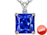 Original Star K™ Large 12mm Square Cut Simulated Tanzanite Pendant style: 306123