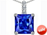 Original Star K™ Large 12mm Square Cut Simulated Tanzanite Pendant style: 306141