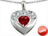 Original Star K™ Heart Shape Created Ruby Heart Pendant style: 306160