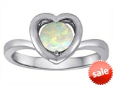 Original Star K™ Heart Engagement Promise of Love Ring with 7mm Round Created Opal