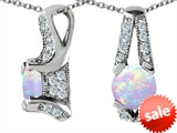 Original Star K™ Round Created Opal Pendant style: 306166