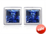 Original Star K™ 8mm Square Cut Created Sapphire Earrings Studs style: 306184
