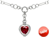 Original Star K™ Heart Shape Created Ruby Pendant