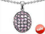 Original Star K™ Oval Puffed Pendant with Created Pink Sapphire style: 306202