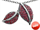 Original Star K™ Nature Lover Leaf Pendant with Created Ruby