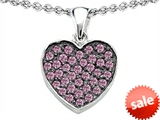 Original Star K™ Heart Shape Love Pendant with Created Pink Sapphire style: 306206