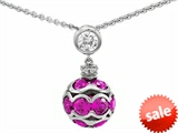 Original Star K™ Created Pink Sapphire Ball Pendant style: 306209