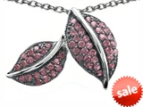 Original Star K™ Nature Lover Leaf Pendant with Created Pink Sapphire