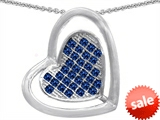 Original Star K™ Round Created Sapphire Heart Shape Pendant style: 306214