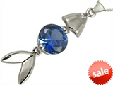 Original Star K™ Fish Pendant With Round Created Sapphire