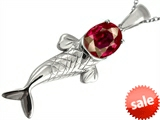 Original Star K™ Fish Pendant With Oval Created Ruby style: 306228