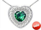Original Star K™ Heart Shape Simulated Emerald Pendant style: 306232