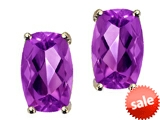 Tommaso Design™ Checkerboard Cushion Cut Genuine Amethyst Earrings style: 306239