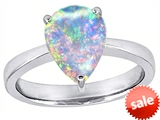 Original Star K™ Large Pear Shape Solitaire Engagement Ring Simulated Opal style: 306241