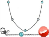 Original Star K™ 72 Inch Gems By The Yard Necklace With Round Simulated Aquamarine style: 306246