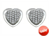 Original Star K™ Heart Shape Love Earrings with Cubic Zirconia