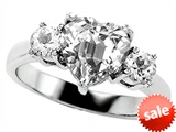 Original Star K™ 8mm Heart Shape Genuine White Topaz Engagement Ring style: 306264