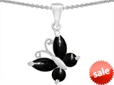 Original Star K™ Butterfly Pendant Made with Black Onyx style: 306273