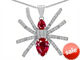 Original Star K™ Spider Pendant With Pear Shape Created Ruby style: 306276