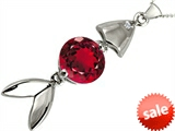 Original Star K™ Fish Pendant With Round Created Ruby style: 306282