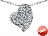 Original Star K™ Heart Shape Love Pendant With Round Cubic Zirconia