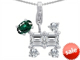 Original Star K™ Dog Pendant With Simulated Emerald style: 306293