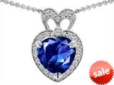 Original Star K™ Heart Shape Created Sapphire Pendant style: 306296