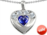 Original Star K™ Heart Shape Created Sapphire Heart Pendant