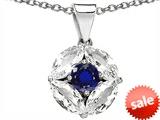 Original Star K™ Round Created Blue Sapphire Pendant style: 306304